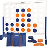 Giant 4 in A Row, 4 to Score Game- Premium Wooden Four Connect Game Set in 3 size and 2 color options by Rally & Roar - Overs