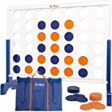 Giant 4 in A Row, 4 to Score Game- Premium Wooden Four Connect Game Set in 3 size and 2 color options by Rally & Roar…