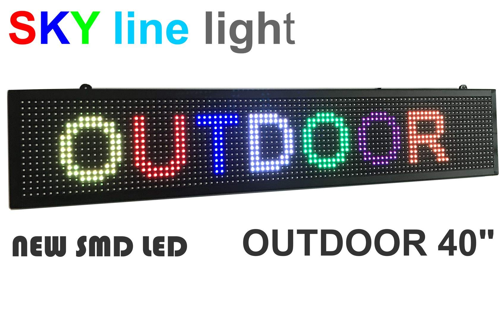Outdoor 40'' LED Display Full Color, LED Scrolling Message Sign, Bright and in New Light housing