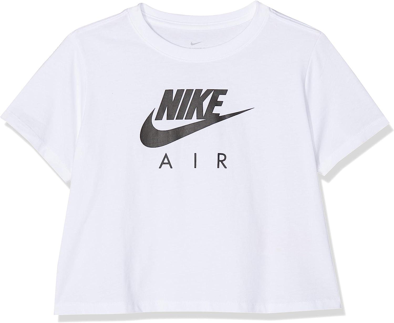 NIKE BQ8483 Camiseta de Manga Corta, Niñas, White/Black, M: Amazon.es: Ropa y accesorios