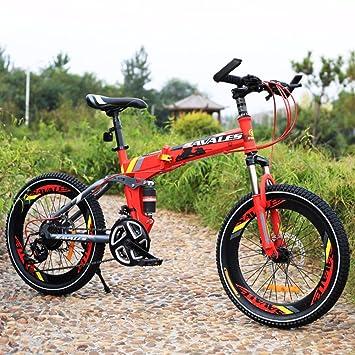 YEARLY Bicicleta plegable infantil, Bicicleta plegable estudiante Ligero Bicicleta de montaña Amortiguador de choque 21