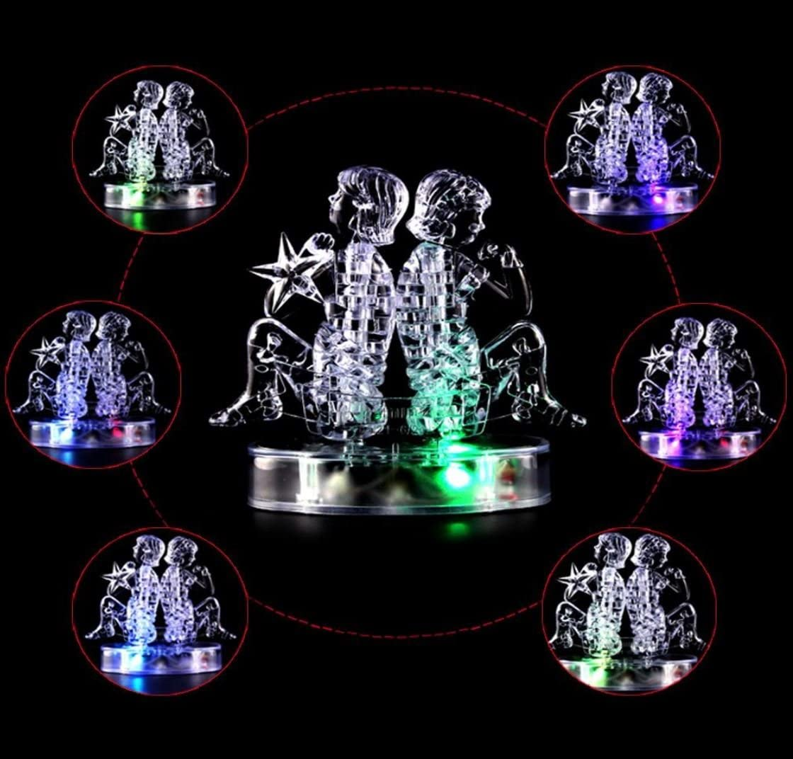 Capricorn GracesDawn Crystal Twelve Constellations Deluxe 3D Puzzle Colorful Crystal Decoration