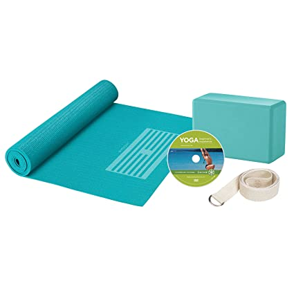 Gaiam 05-53724 Yoga For Beginners Kit, Blue