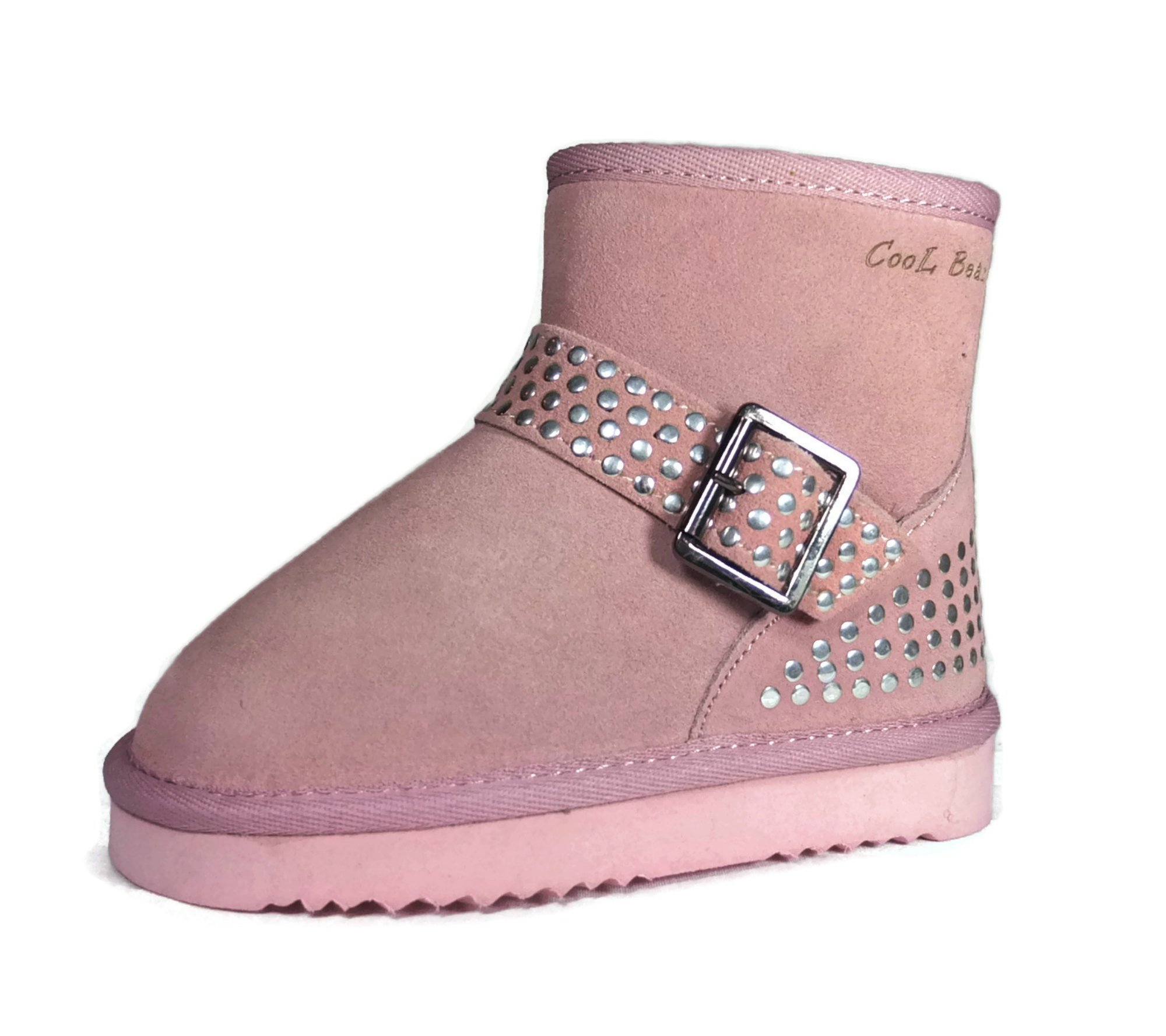 Cool Beans Girls Warm Sheep Fur Winter Snow Boots, Genuine Leather ( Toddler / Little Kid size 9 )