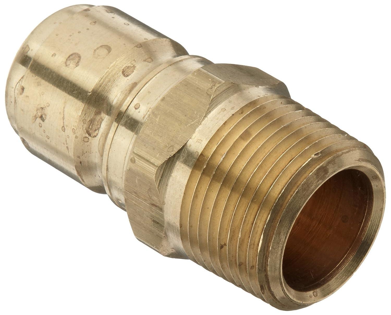 Dixon STMP6B Brass Hydraulic Quick-Connect Fitting, Plug, 3/4' Male Coupler x 3/4'-14 NPT 3/4 Male Coupler x 3/4-14 NPT Dixon Valve & Coupling