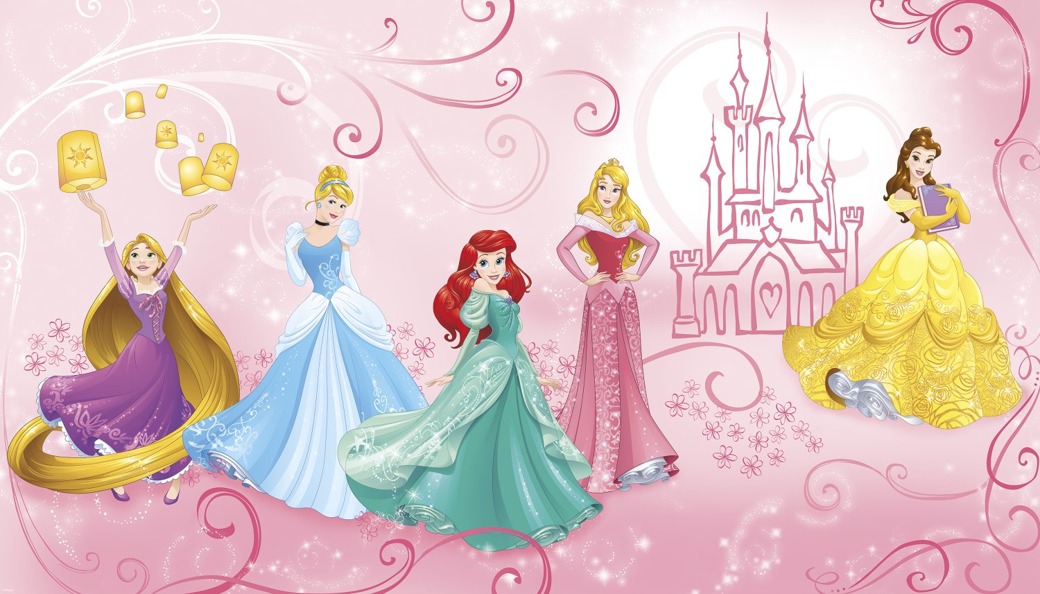 RoomMates Disney Princess Enchanted Prepasted, Removable Wall Mural - 6' X 10.5' by RoomMates (Image #2)