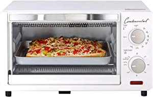 Unknown1 Electric Toaster Oven 60 Minute Timer White Plastic Removable Crumb Tray Variable Temperature Control