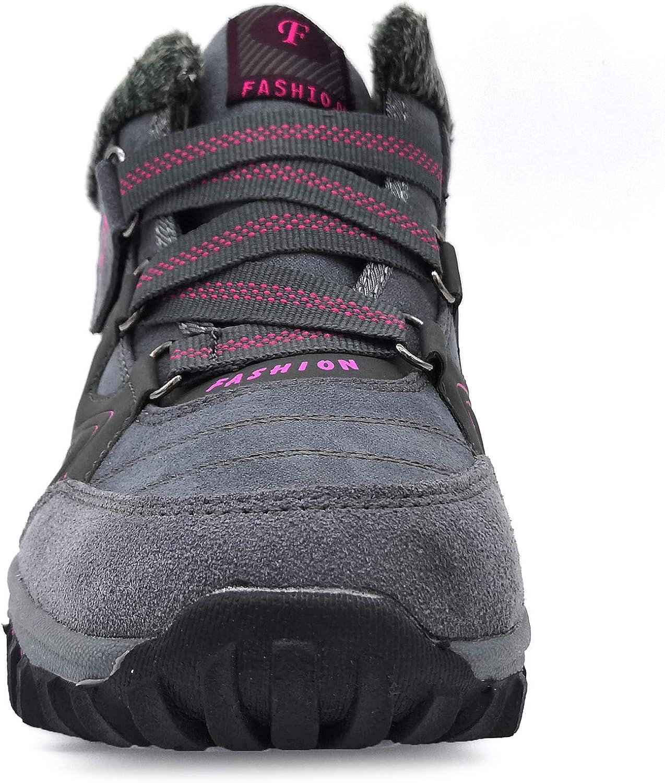 BaiMoJia Bottes de Randonn/ée Neige Femme Homme Hiver Chaud Fourrure Antid/érapantes Trekking Chaussures de Marche