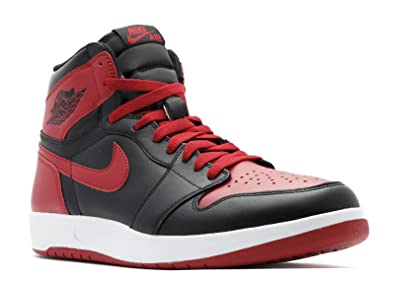Nike Mens Air 1 Retro High The Return Black/Gym Red-White Leather Size 10