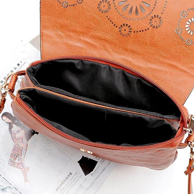 Bolso Bandolera Mujer Grande de Piel Bolsos de Hombro Colores para Niña por ESAILQ YE: Amazon.es: Equipaje