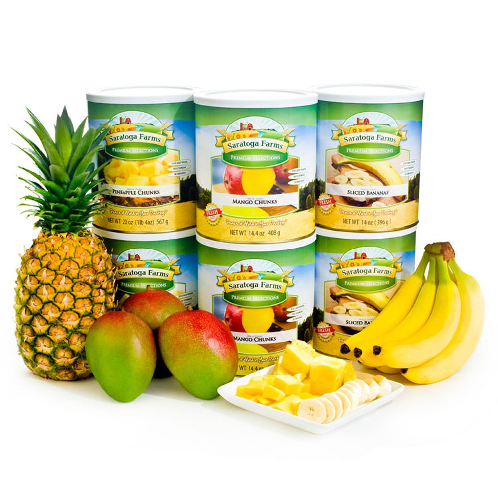 Freeze Dried Tropical Fruits Pack by Saratoga Farms