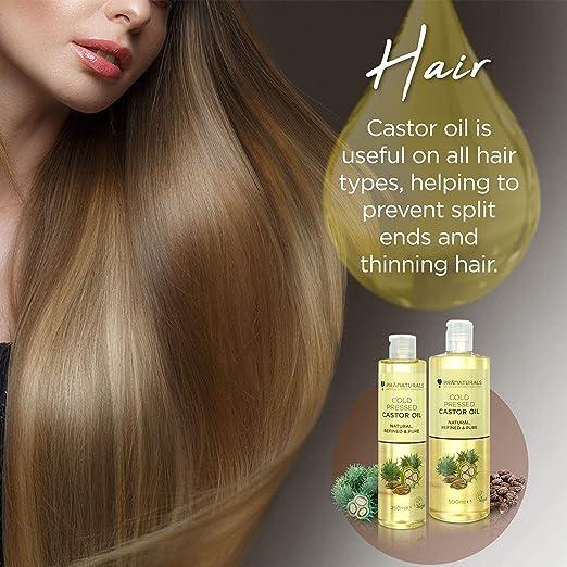 Aceite de ricino prensado en frío PraNaturals 500ml. 100% vegano y natural. Para mejorar el crecimiento del pelo y las pestañas y obtener una piel más ...