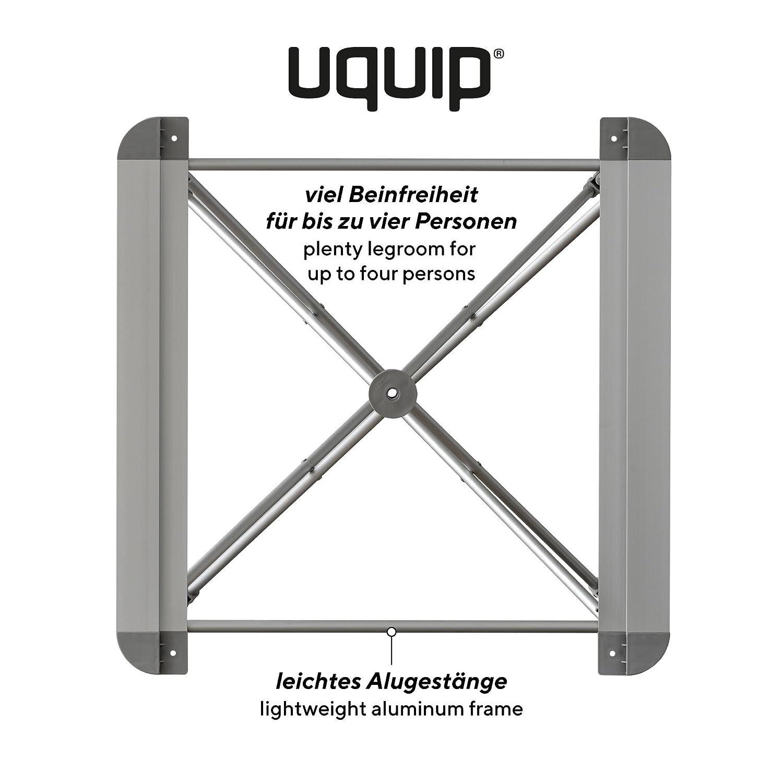 pour 4 Personnes avec des Pieds Flexible et Un Filet pour Espace Rangement Uquip Mercy Table Pliante en Alimunium