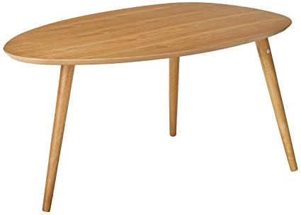 Amazon.com: Caspar mesa de centro de madera natural: Kitchen ...