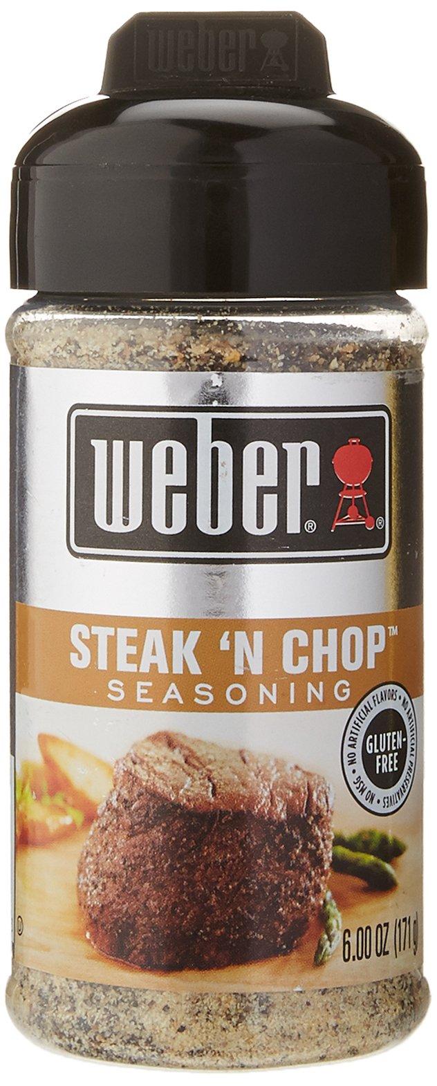 6oz Weber All Natural Seasoning Steak 'n Chop (One Jar)