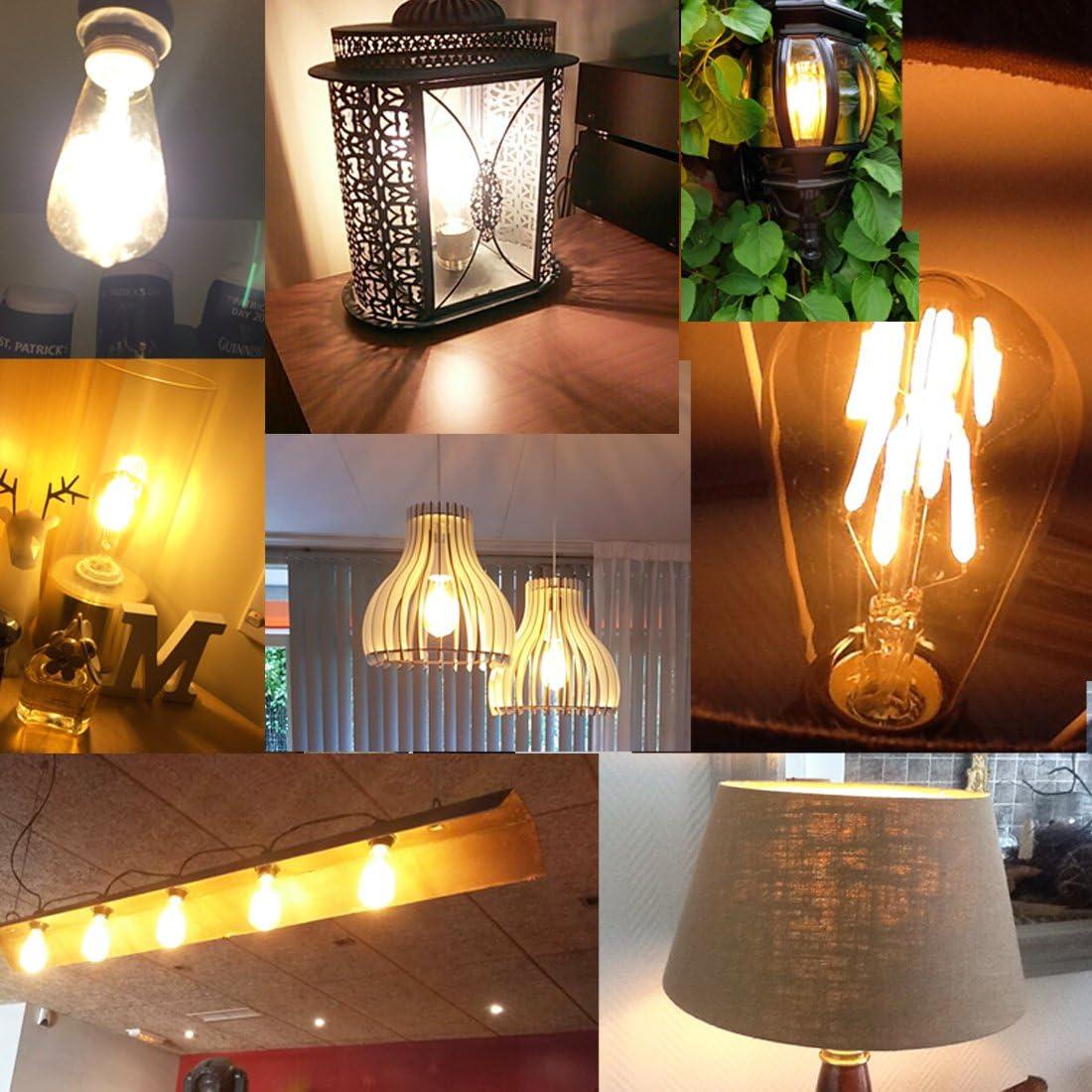 /à intensit/é variable Id/éal pour Nostalgie et r/étro /éclairage d/écoratif Ampoule 40/W Antique C55/Edison Vintage Filament LED E27/Blanc chaud 220/–240/V, 2200/K