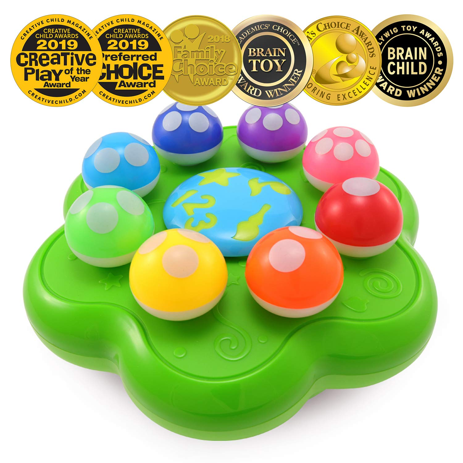 BEST LEARNING Mushroom Garden - Interactive Educational Light-Up Toddler Toys for 1 to 3 Years Old Infants & Toddlers - Colors, Numbers, Games & Music for Kids by BEST LEARNING