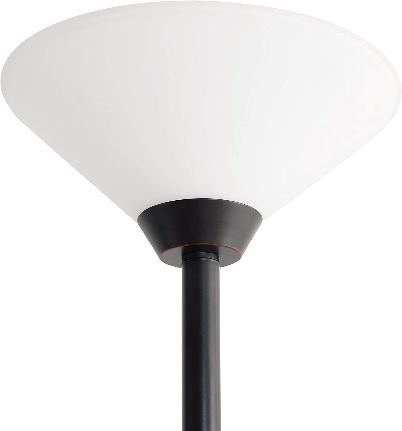 Kenroy Home Kenroy 21002BS Transitional Two Light Torchiere from Rush collection in Pwt, Nckl, B/S, Slvr. finish, 12.00 inches, Brushed Steel Oil-rubbed Bronze