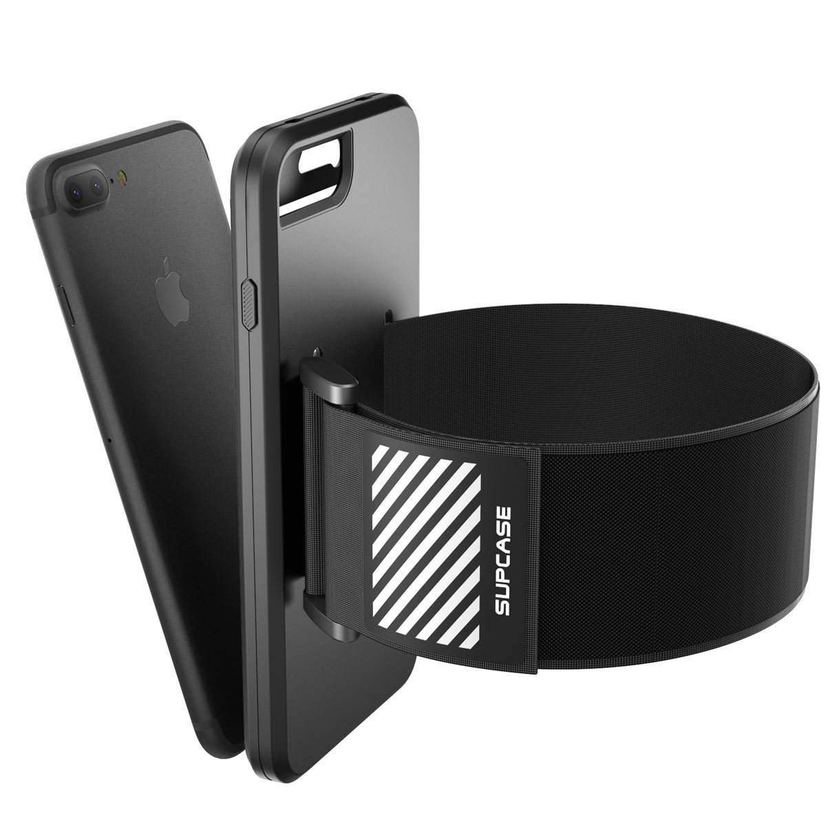 iPhone 7 Plus Armband, iPhone 8 Plus Armband, SUPCASE Easy Fitting Sport Running Armband Case with Premium Flexible Case Combo for Apple iPhone 7 Plus 2016 / iPhone 8 Plus 2017 (Black) by SUPCASE (Image #4)