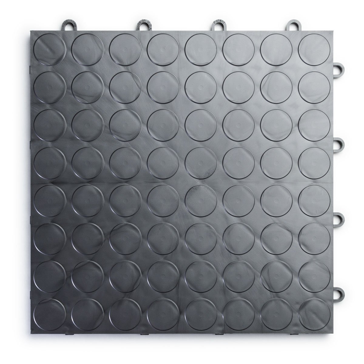 RaceDeck CircleTrac, Durable Interlocking Modular Garage Flooring Tile (24 Pack), Graphite by RaceDeck