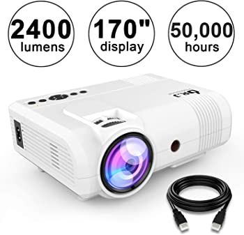 DR. J Professional L8 2600-Lumens LED Home Theater Projector