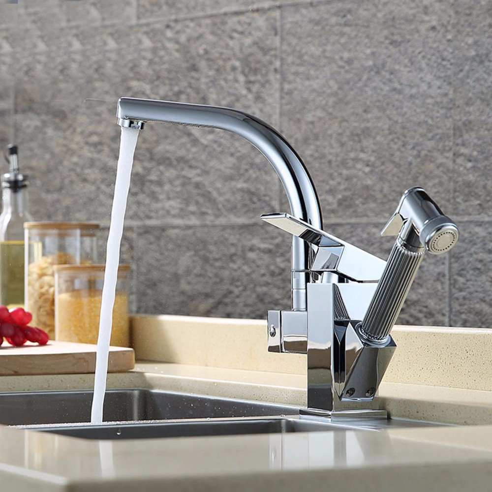 Gyps Faucet Basin Mixer Tap Waterfall Faucet Antique Bathroom Pull Kitchen Faucet hot and Cold-Water Faucet Copper Shampoo Single Hole Basin Faucet Dish Washing Basin Pull-Down Faucet