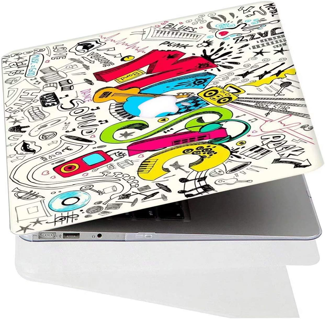 - M/úsica Colorida Pl/ástico Hard Shell Protector para MacBook Air 11,6 Modello: A1370//A1465 AQYLQ Funda Dura MacBook Air 11 Caso