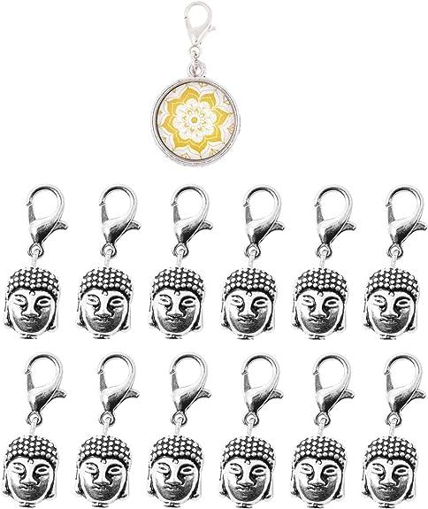 Charm Bracelets Owl Head Charms Jewelry Making Zipper Pull