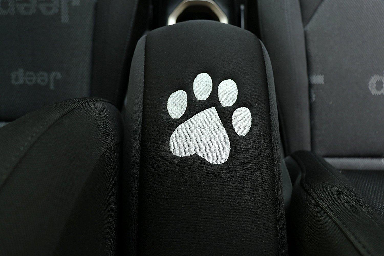 i-Shop Black Neoprene Center Console Armrest Pad Cover Protector Cushion (All Black)