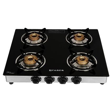 909f89d91 Buy Faber Splender Gas stove 4 Burner Glass Cooktop