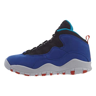 a0efe51279b Amazon.com | Nike Air Jordan 10 Retro Big Kid's Shoe Racer Blue/Team  Orange/Black 310806-408 | Fashion Sneakers