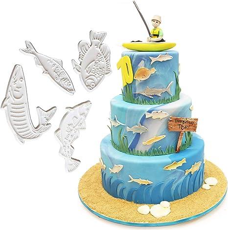 Marine Life Fish Fondant Decoration Mold DIY Cake Decor Tools Silicone one