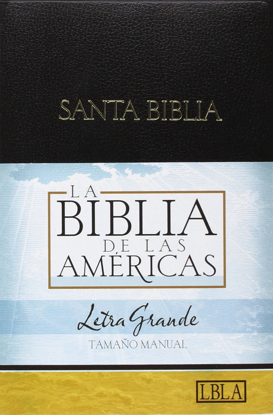 LBLA Biblia Letra Grande Tamaño Manual, negro imitación piel (Spanish Edition): B&H Español Editorial Staff: 9781586403911: Amazon.com: Books