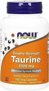 Now Taurine 1000 Mg,100 Veg Capsules