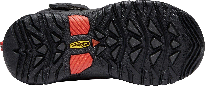 KEEN - Kid's Torino II Mid Waterproof Winter Boots, Tortoise Shell/Fiery Red, 8 M US Big Kid by KEEN (Image #3)