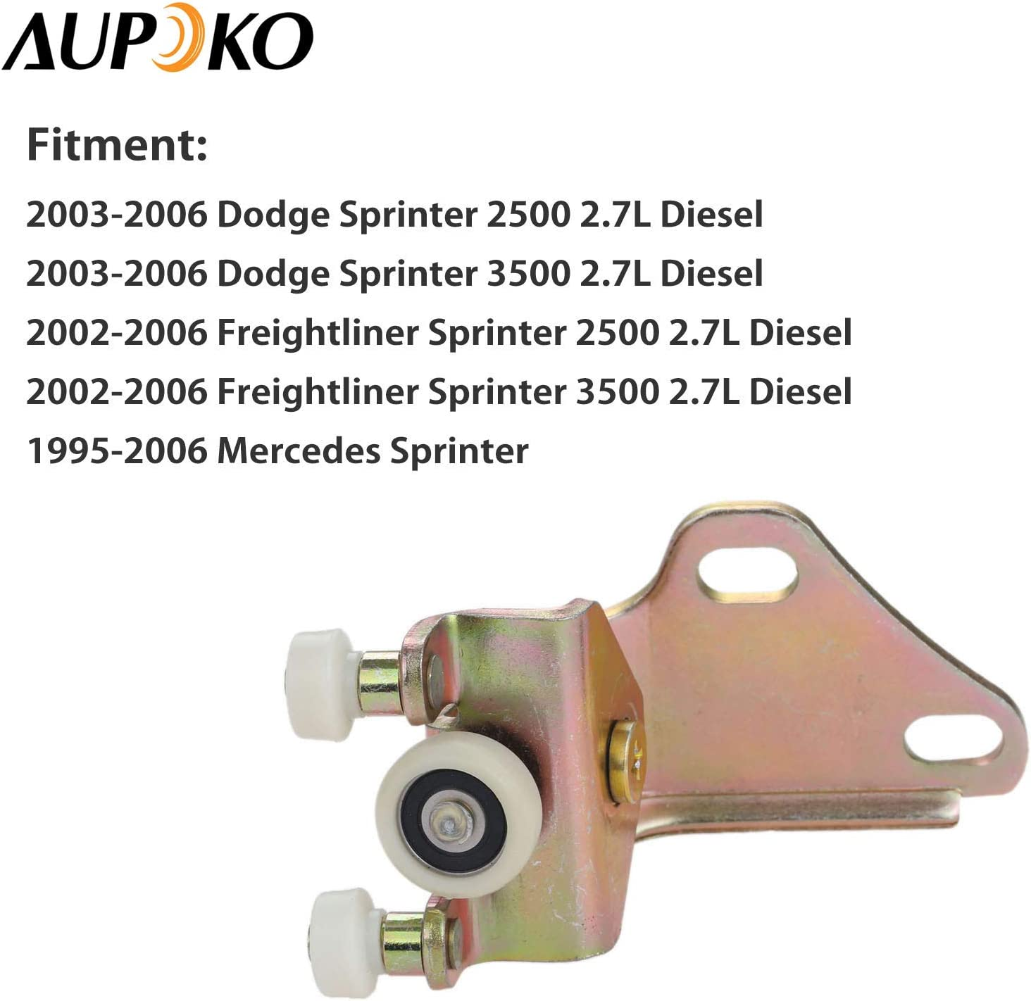 Aupoko 9017600128 Lower Right Rear Sliding Door Roller Sliding Side Door Roller Assembly Replace# 2D1843398A Fits for Dodge Freightliner Mercedes Sprinter 2D1843398 5103588AA