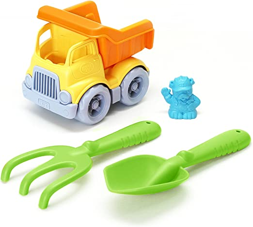 Green Toys Sand Water Play Dumper Toy with Rake Shovel