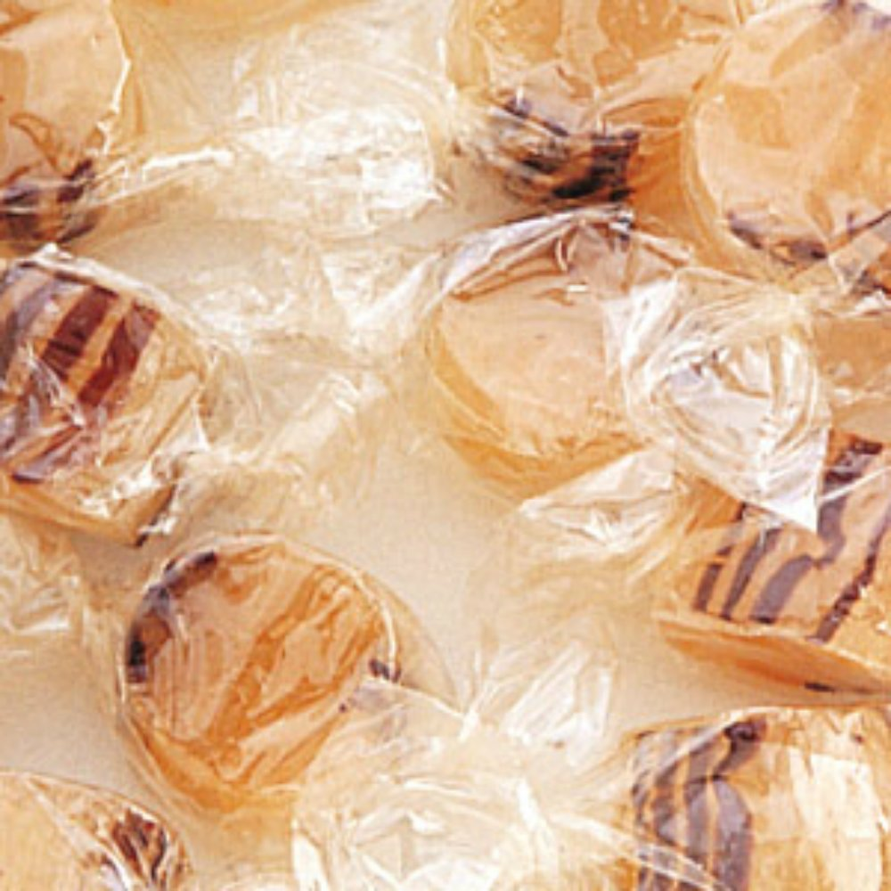 Tan and Brown Striped Old Fashioned Ginger Cuts Hard Candy 5LB Bag