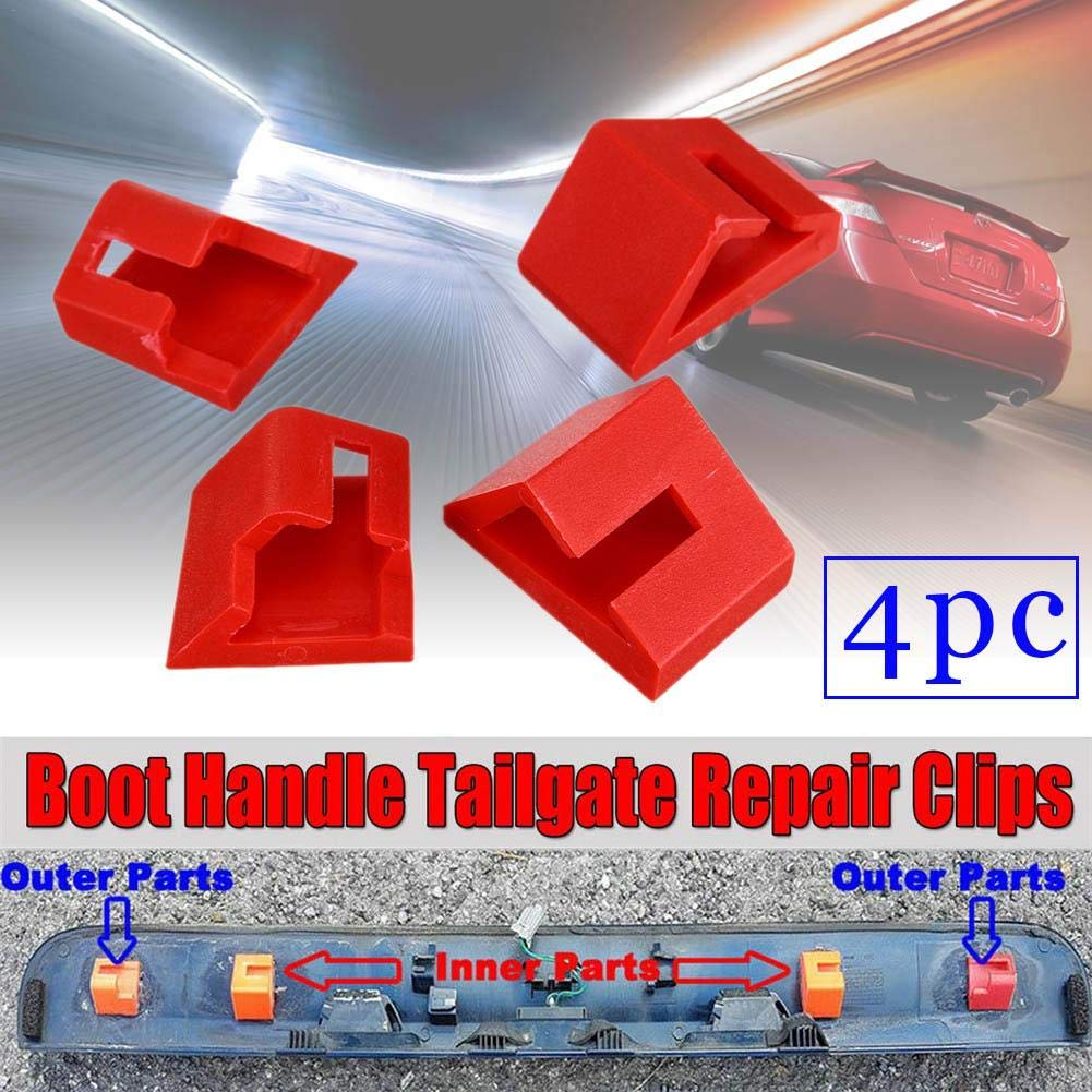 U-smile Boot Handle Tailgate Repair Clips 4pcs,auto Trunk Boot Handle Repair Fixing Clips Buckle for Nissan Qashqai Dualis Tailgate Replacement Accessories
