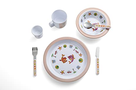 Kids Dinnerware Set Yinshine 7pcs Melamine Toddler Plates Set  sc 1 st  Amazon.com & Amazon.com: Kids Dinnerware Set Yinshine 7pcs Melamine Toddler ...