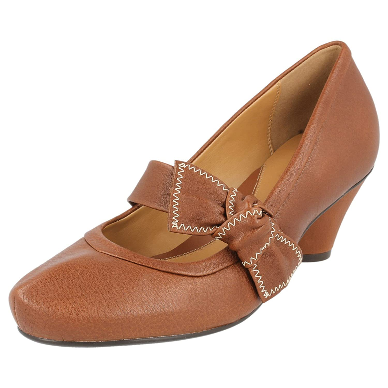 Einkaufen Mode-Design Neueste Mode Clarks Softwear AZURE Blossom Tan Leather Mid heel Shoes (UK ...