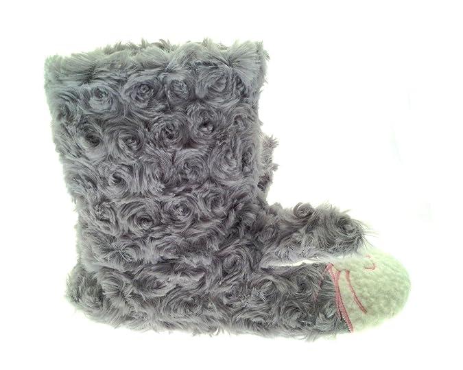 Kids Girls Novelty Slipper Boots Booties Grey Rabbit Slippers Size UK 11-12:  Amazon.co.uk: Shoes & Bags