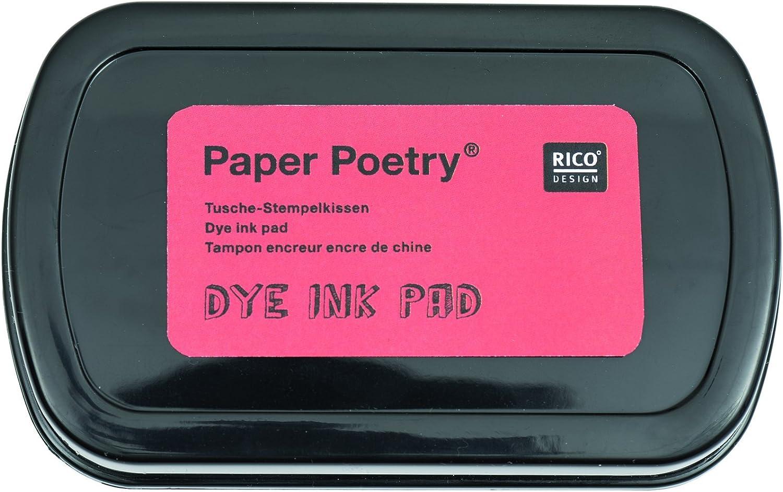 Cyan Rico Design Dye Tinte Pad Lack schwarz P 10 x 6 x 1.5 cm Farbe