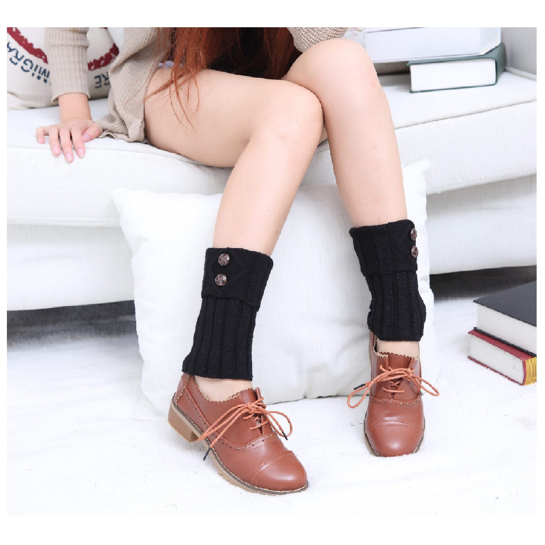 Crochet tejer algodón pata arranque puños calentador de la pierna ...