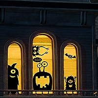 CCINEE - 10 calcomanías gigantes para ventana, decoración de Halloween para ventana con diseño de monstruos