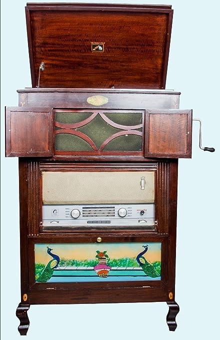 "Antiques World Vintage Décor Antique Radio + ""Hmv"" Gramophone 2  In 1 Cabinet - Amazon.com: Antiques World Vintage Décor Antique Radio +"