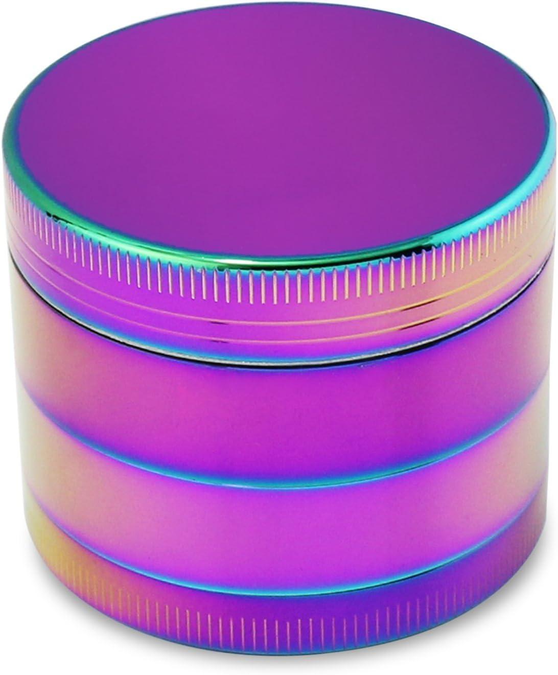 KEESIN Especias Herb Grinder Arco Iris Aluminio Magnético Superior Tabaco Polen Atrapasueños 4 Unidades Romper Grinder 50mm, Multicolor