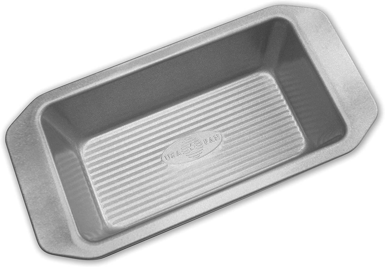 USA Pan 1140LF-3-ABC American Bakeware Classics 1-Pound Loaf Pan, Aluminized Steel, 1 Pound
