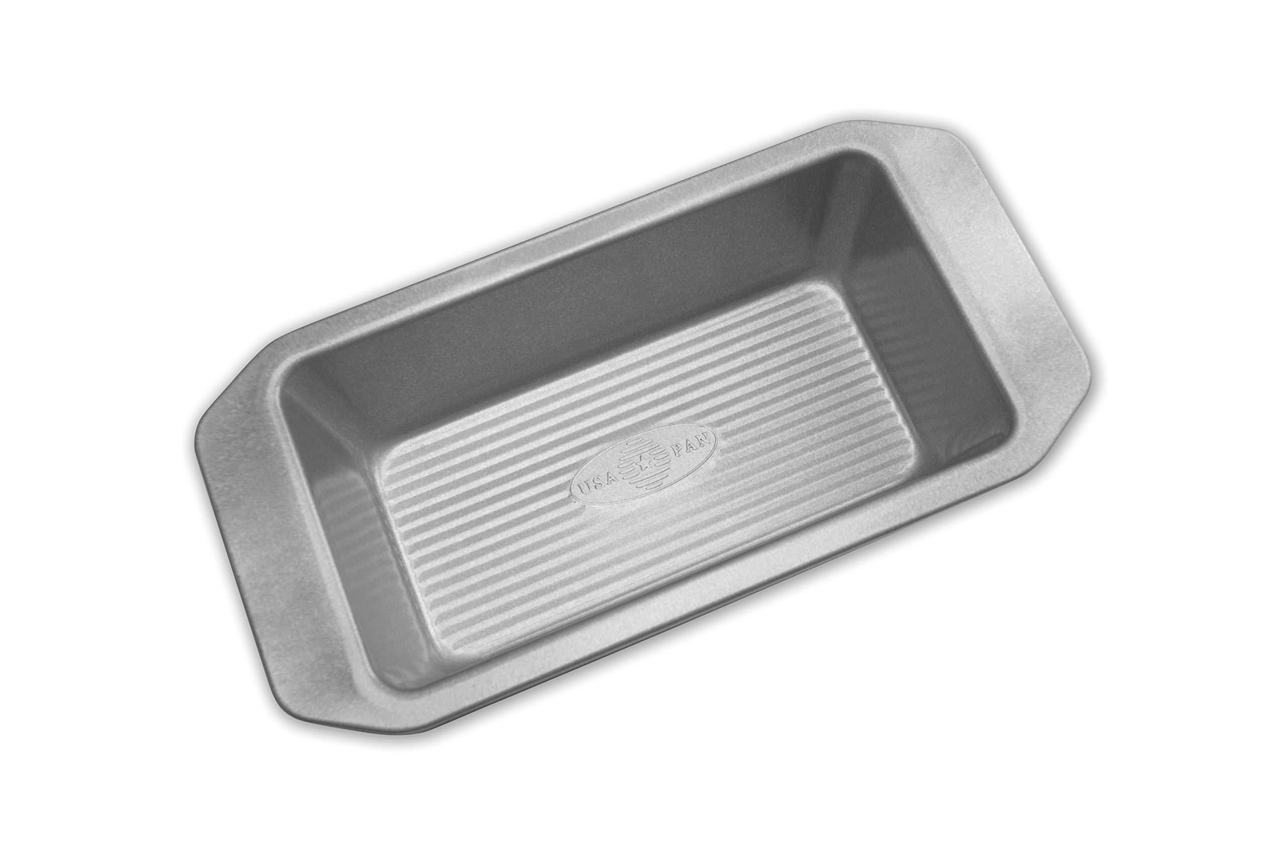 USA Pan 1140LF-3-ABC American Bakeware Classics 1-Pound Loaf Pan, Aluminized Steel by USA Pan