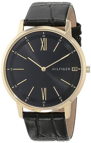 Tommy Hilfiger Reloj Analógico para Hombre de Cuarzo con Correa en Cuero 1791517: Amazon.es: Relojes